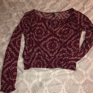 H&M crop long sleeve